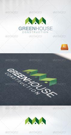 Greenhouse Logo Design Template Vector #logotype Download it here:  http://graphicriver.net/item/greenhouse/760184?s_rank=236?ref=nesto