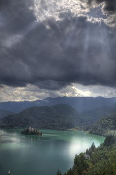 """God's light looking for a church"" by Bas Lammers, The Pilgrimage Church of the Assumption of Mary (15th century), Lake Bled, Slovenia"