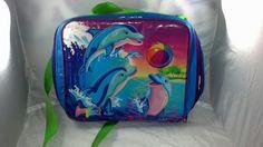 Lisa frank Vintage Dancing Dolphins Mini backpack by PoniesAndPets