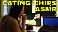 ASMR Eating Chips While Watching My ASMR Sponge Mic Video