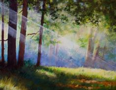 Bathed with Light, painting by artist Nel Jansen