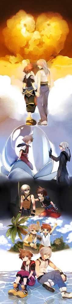 Pixiv Id 318818, SQUARE ENIX, Disney, Kingdom Hearts, Kingdom Hearts II, Riku (Kingdom Hearts)