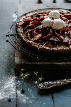 A sweet plum galette that might just change your life.Anisa Sabet | The Macadames | Food Styling | Food Photography | Props | Moody | Food Blogger | Recipes