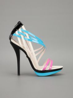 Versace Strappy Sandal in Multicolor (black) | Lyst