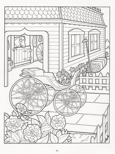 The Victorian House Coloring Book History Social Studies Culture Transportation