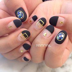 Manicure short nails summer art designs New Ideas - - Glitter Manicure, Manicure And Pedicure, Get Nails, Hair And Nails, Gorgeous Nails, Pretty Nails, Music Nails, Natural Nail Art, Korean Nail Art