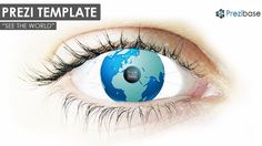 creative world in human eye planet earth globe prezi template creative
