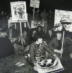 Ans Westra Anti-Vietnam Protest, Marion Street, Wellington, 1971