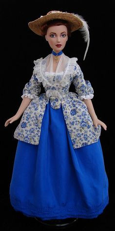 Sandrine -  18th century caraco dress for Alex doll