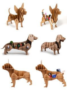 Store Your Stuff with These Cute Cardboard Dog Shelves