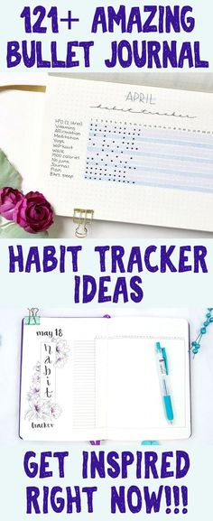 Bullet Journal Ideas- Tons of ideas for your habit tracker layouts in your bullet journal! Get bullet journal layout inspiration along with tons of options for tracking in your trackers! Bullet journal habit trackers can help you improve your life and help you be a better person.