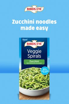Give your favorite recipes an easy, nutritious spin with zucchini noodles. Delicious and nutritious, these Zucchini Veggie Spirals cook perfectly in minutes! Old Recipes, Low Carb Recipes, Dinner Recipes, Cooking Recipes, Healthy Recipes, Veggie Noodles, Zucchini Noodles, Casava Cake Recipe