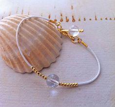 Clear Quartz Bracelet  Healing Crystal   by MirellaHammerJewelry, €15.00