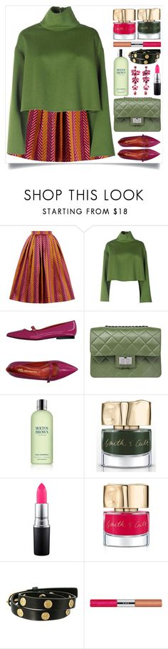 """Green & Pink"" by itsybitsy62 ❤ liked on Polyvore featuring House of Holland, Bally, Saint-Honoré Paris Souliers, Design Inverso, Molton Brown, Smith & Cult, MAC Cosmetics, Tory Burch, RMK and Etro"