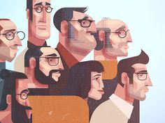 Characters by James Gilleard #Design Popular #Dribbble #shots