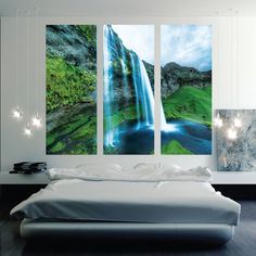 Waterfall Mural Decal -View Wall Decal Murals - Primedecals