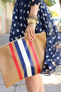 .LOVE! ~,~ brown blue red white pure hand bag tote