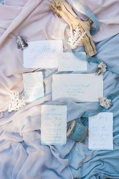 Pastel Beach Wedding Inspiration - Kelsey Malie Calligraphy