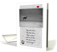 Pet Sympathy Loss of a Dog card inside says a part of us goes too