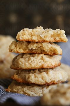 Coconut Cream Cheese Cookies are soft, rich and packed with coconut. These are such a delicious cookie, perfect for the coconut lover in your life! #cookiesandcups #recipe #cookie #baking #recipe #coconut #creamcheese