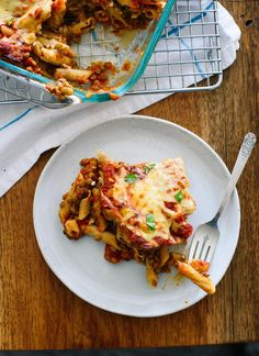 This lentil baked ziti recipe is vegetarian comfort food at its best. cookieandkate.com