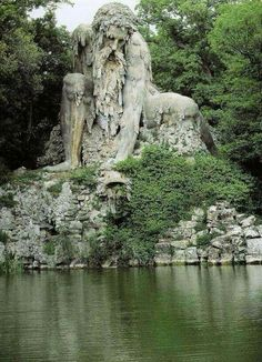 Standing nearly four stories tall, the Apennine Colossus in Florence, Italy, was constructed over 420 years ago.