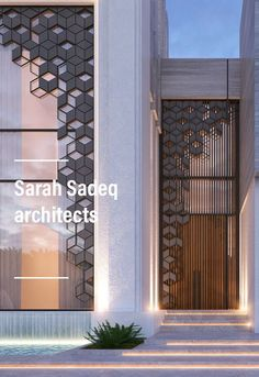 New Jumaira project by Sarah Sadeq architects Dubai . Kuwait New Jumaira project by Sarah Sadeq architects Dubai . Villa Design, Gate Design, Facade Design, Exterior Design, Partition Design, House Front Design, Modern House Design, Tor Design, Entrance Design