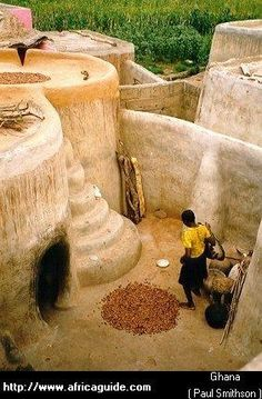 Mud houses in Ghana. So creative and amazing!: