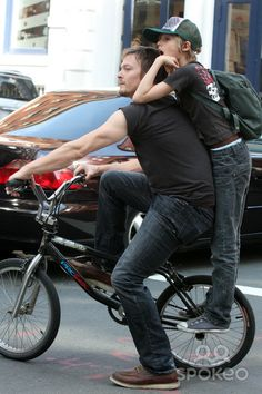 Norman Reedus Son   NYC 05/01/10 EXCLUSIVE: Norman Reedus with his son Mingus Reedus (his ...