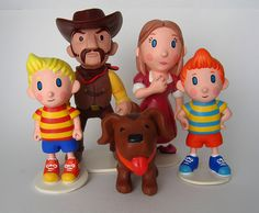 Awesome Mother 3 polymer clay figures by Camille Young.