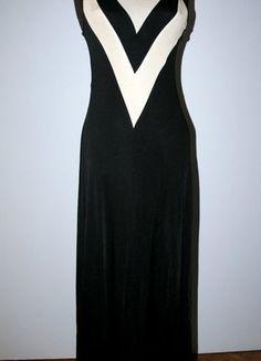 Kup mój przedmiot na #vintedpl http://www.vinted.pl/damska-odziez/dlugie-sukienki/11990531-dluga-czarno-biala-suknia-rozm-l