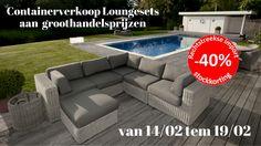 Containerverkoop loungesets tot -40% -- Kampenhout -- 14/02-19/02