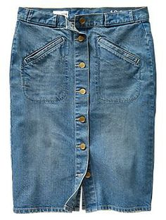 1969 button-front denim skirt | Gap