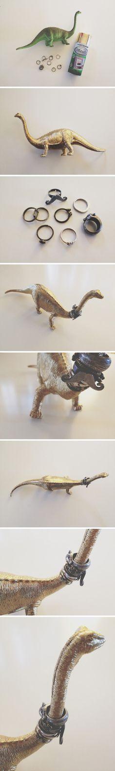 DIY Dino Ring Holder by walkinlove #DIY #Ring_Holder