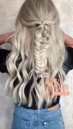 Summer hair tutorial, Summer hair tutorial , , in 2020 Work Hairstyles, Summer Hairstyles, Pretty Hairstyles, Braided Hairstyles, Hairstyles Videos, Hairdos, Summer Hair Tutorials, Curled Hair With Braid, Hair Upstyles