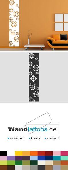 Wandbanner Blüten als Idee zur individuellen Wandgestaltung. Einfach Lieblingsfarbe und Größe auswählen. Weitere kreative Anregungen von Wandtattoos.de hier entdecken!