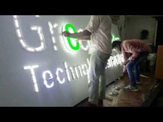 Acrylic led letters - YouTube