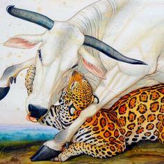 arsvitaest: detail of illustration by Walton Ford (via marinni) Walton Ford, Art Tigre, Watercolor Books, Tiger Art, Detail Art, Wildlife Art, Animal Paintings, Spirit Animal, Art Reference