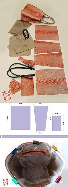 Как сшить сумку-шоппер с двойной магнитной застежкой за 15 шагов...♥ Deniz ♥