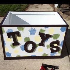 Homemade toy box!!