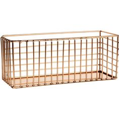 Metal Wire Basket $14.99 (£12) ❤ liked on Polyvore featuring home, home decor, small item storage, metal wire baskets, rectangular basket and rectangle basket