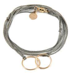 NOUVELLE COLLECTION Bracelet/Collier Femme/Homme/Ado Duo Gold filled sur lien - Dafné - 82 EUR. - Comptoir des Filles