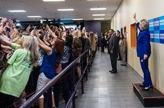 Hillary Clinton campaign selfie