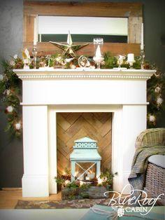 "Faux Fireplace Pallet Wood ""Fire Box"""