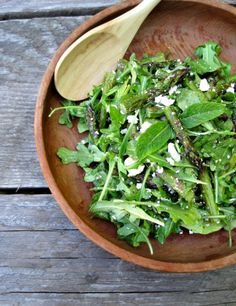 I would add Queen Of The Nile Dukkah too.  Asparagus & Arugula Salad with Feta and Mint | Rosemarried.com