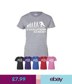 T-Shirts Evolution Of Ice Hockey Sport Mens Ladies T-Shirt Gift Size S-Xxl hockey treats, hockey tournament ideas, hockey party Hockey Sport, Youth Hockey, Ice Hockey, Hockey Tournaments, Hockey World, Diy Shirt, Shirts For Girls, Evolution, Thankful