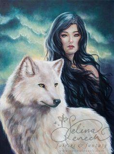 Winter Wolf Art Print by Selina Fenech by selinafenech Winter Wolves, Good Knight, She Wolf, Wolf Spirit, Fairy Art, Gothic Art, French Art, Female Art, Cool Art