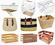 City Girl Rides: Cute Bicycle Baskets