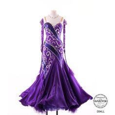 purple with silver crystal bodice design modern dress
