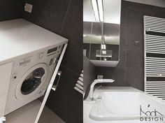 MAŁA ŁAZIENKA Z OSOBNĄ TOALETĄ - zdjęcie od KODA DESIGN studio projektowe Dawid Kotuła - Łazienka - Styl Minimalistyczny - KODA DESIGN studio projektowe Dawid Kotuła Malaga, Washing Machine, Home Appliances, Bathroom, House Appliances, Washroom, Full Bath, Appliances, Bath